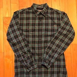 Eddie Bauer green plaid flannel
